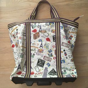 Travel Bag - Colorful Print (Handle & Wheels)